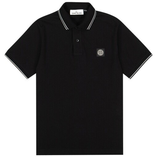 Stone Island Polo Shirts Stone Island 22s18 stretch pique polo Black