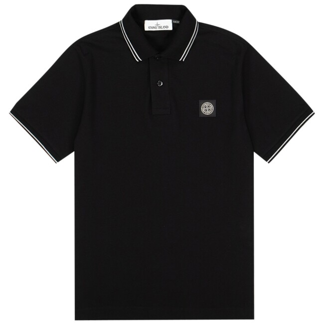 Stone Island  MO101522S18-V0029 zwart 22S18 Stretch Pique Polo