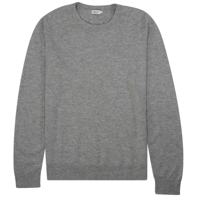 Filippa K  25788-1451 lichtgrijs Cotton Merino Basic Sweater