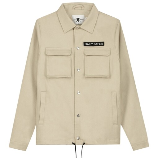 Daily Paper cargo coach jacket Beige