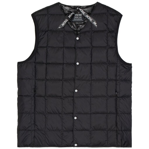 Taion Jackets Taion v neck button down vest Black