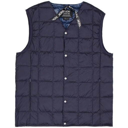 Taion Jackets Taion v neck button down vest Navy