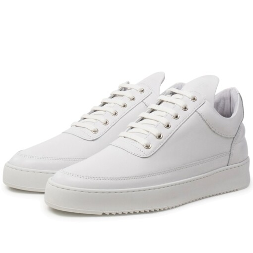 Filling Pieces Luxury Sneaker Filling Pieces low top ripple basic All White