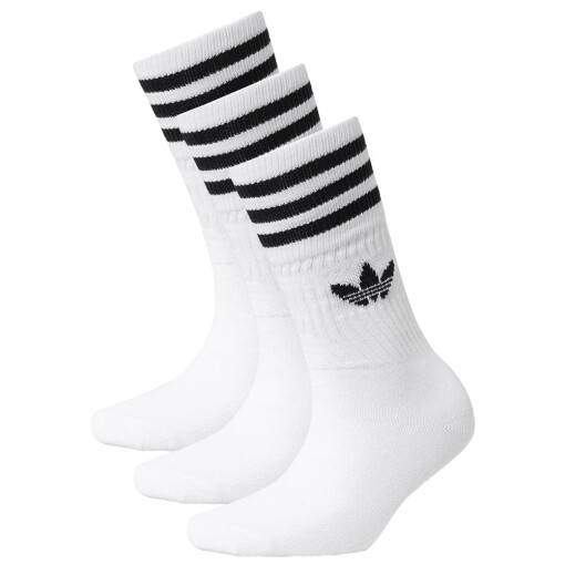 Adidas Socks Adidas solid crew sock White/Black