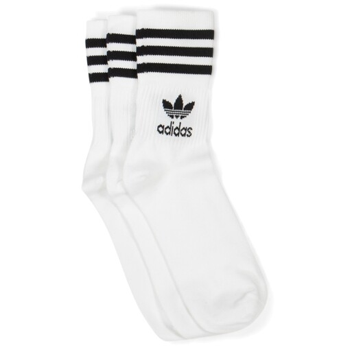 Adidas Socks Adidas mid cut crew sock White/Black